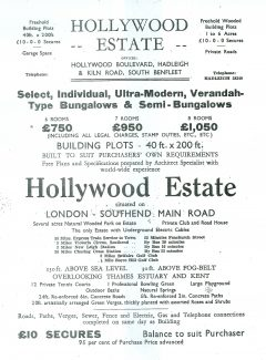 Hollywood Estate advert - click link below to see full brochure | J S Cooper