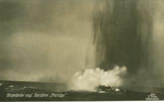 Postcard.  Sinking of H.M.S. Partridge. 1942 | F. Fink.  Wilhelmshaven.  Germany