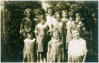 Class photo from Stanley House School. Christopher Gardner stands far right, front row. | Julie Summers
