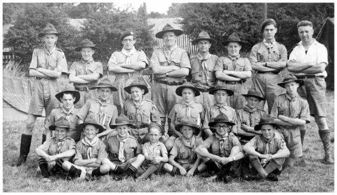 Thundersley Camp, showing Skipper Stevens back row, fourth from left.