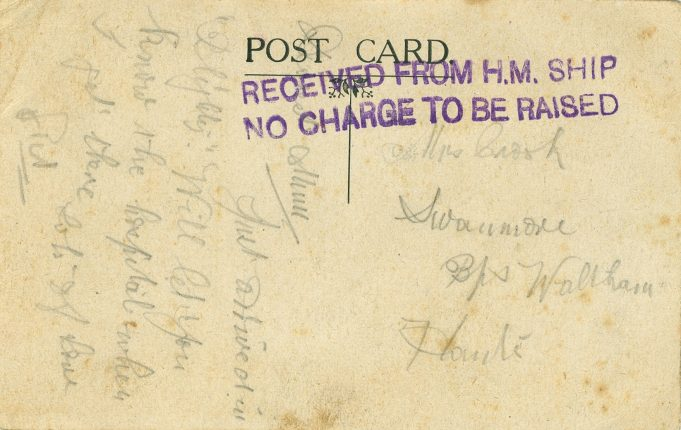 Reverse of Post Card. | Unknown.