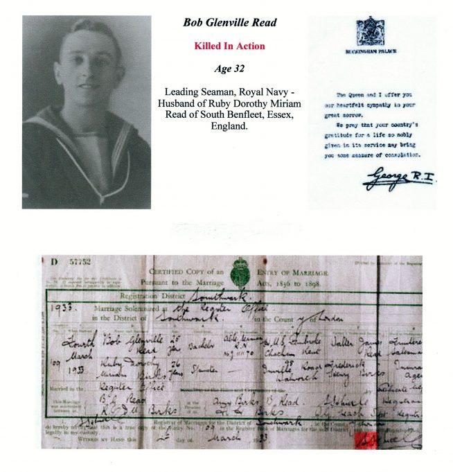 Bob Glenville Read + Marriage Certificate