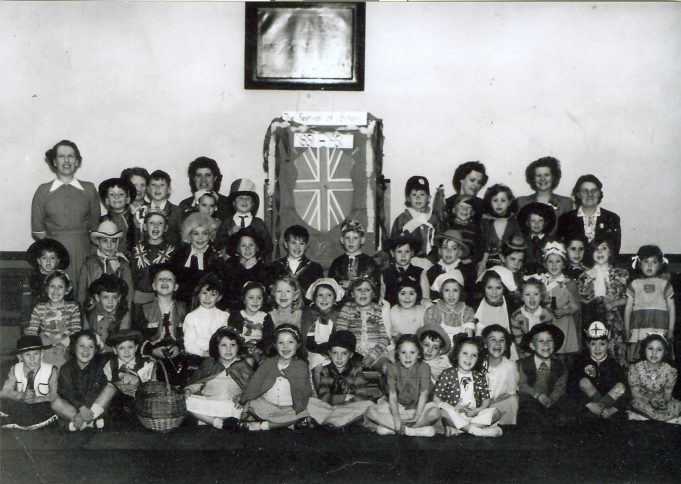 Festival of Britain celebration 1951  The teachers have been named (see below) but can you name the children? | Ann Morrison collection