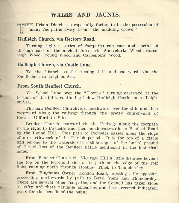 Benfleet Official Guide 1936 - Walks