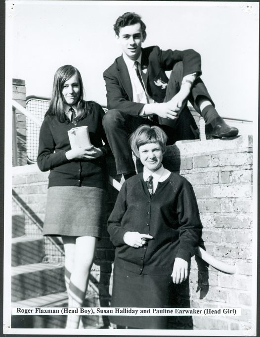Roger Flaxman - Head Boy with Susan Halliday and Pauline Earwaker - Head Girl | Glenn Newman