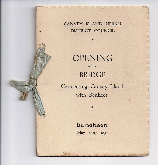 Celebrating the new Benfleet to Canvey bridge | Doreen Brazier