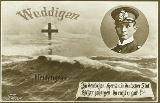 Postcard.  In Memory of Kapitänleutnant Otto Weddigen | Gustav Liersch & Co.  Berlin