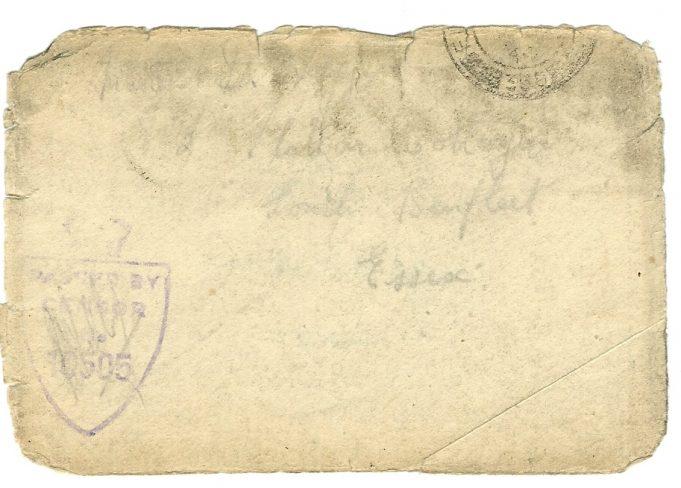 Envelope showing censor stamp | Dennis Layzell