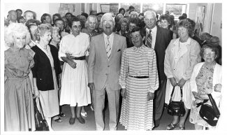 Joint retirement party for Dr Helen Wessels and Dr Ralph Taylor at the Rushbottom Lane surgery. July 1988.   © Echo Newspapers