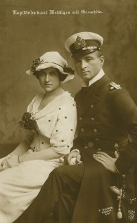Kapitänleutnant Otto Weddigen and his Wife | F. Urbahns.  Hofphot.  Kiel