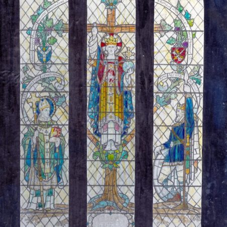 Number 20: Illustration of the East Window, Benfleet | Gerald E.R. Smith. inv.et del. (he or she drew this). 35 Circus Road, St John's Wood, London N.W.8.