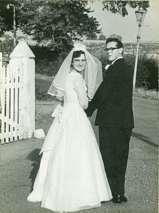 John and me on our Wedding Day at The Colony in 1964. | Maureen Watson