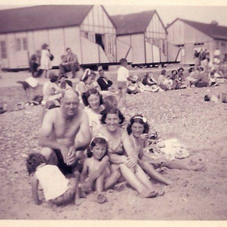 The family on the beach | Doreen Colvin (Nee Batchford)