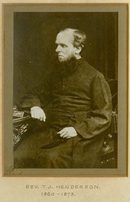 Rev. T.J. Henderson, Vicar of St. Mary's Church, 1860 - 1873 | Terry Babbage, Church Warden, St. Mary's Church