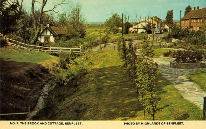 Postcard.  The Brook and Cottage. | Highlands of Benfleet