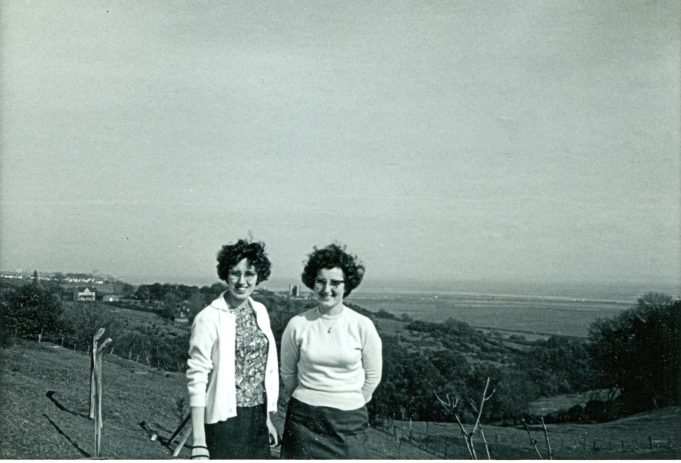 Me on the right of the photo and another of my friends, Irene.  - May 1965 | Maureen Watson