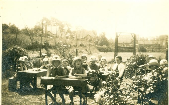 Could this be a lesson held within the grounds of the school?  c. early 1930s | Julie Summers