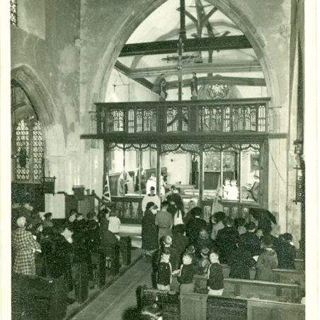 Photo 14: Church Service. Undated | Terry Babbage, Church Warden, St Mary's Church