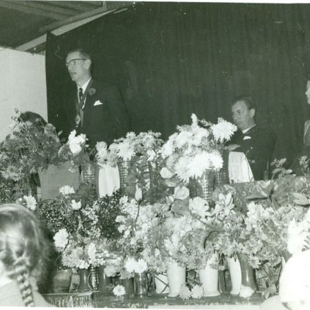 Photo 5: Cllr Ron Williams, Rev A G Banks & Mrs J Banks 1963.  Event unknown. | Terry Babbage, Church Warden, St Mary's Church