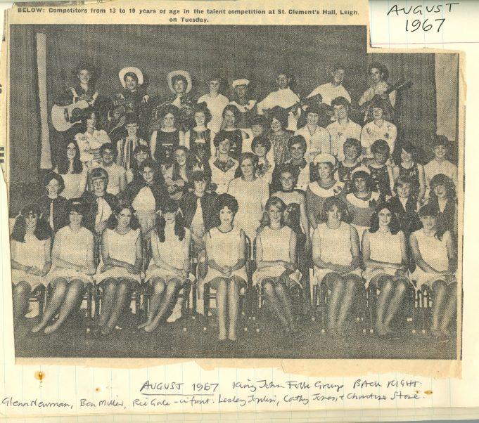 King John School Folk Group - Talent competition held at St Clement's Hall, Leigh on Sea in August 1967