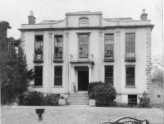 Imposing facade of Hadleigh House - date unknown