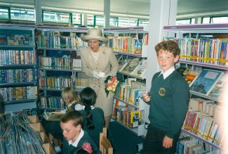 The Duchess talks to local school children