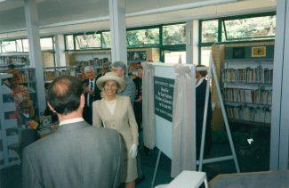 HRH The Duchess of Gloucester unveils the plaque