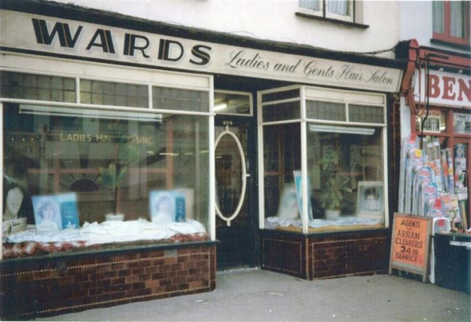 Wards Hair Salon, 305 High Road. Today Quality Foster Care Agency operates from these premises. The ornate front door remains the same today.  (date unknown) | John Downer