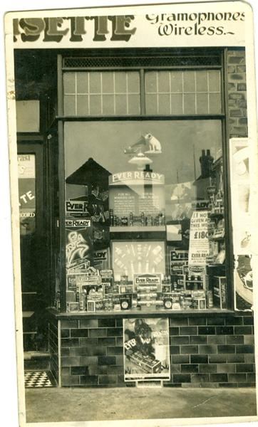 Photo taken for the Ever Ready Company, showing the window display at 311 High Road (circa 1943) | Pat Croisette