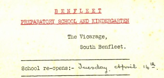 Headed paper for a school report - prior to December 1931   Julie Summers