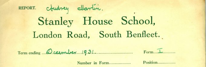School report dated December 1931 - The first term at the new premises in the London Road | Julie Summers