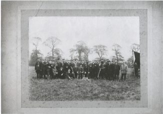 Members of Benfleet Shooting Club 1913, including the local policeman | Iris Sugg
