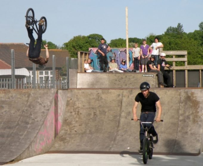 A BMX Jam in the outside skate park | St Georges Church