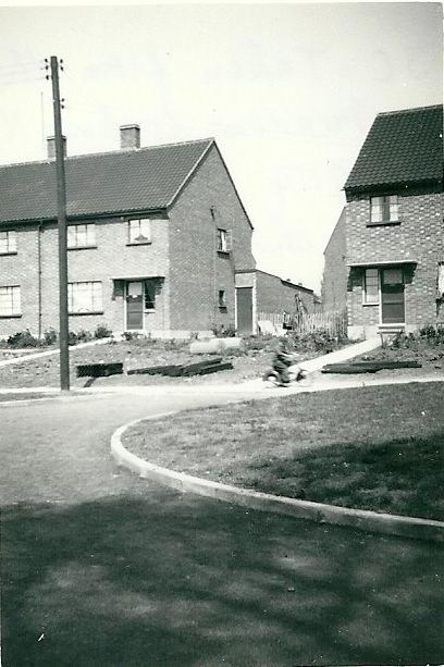 Newly built houses in Hall Farm Close 1954 | From the collection of the late Kath Fisher with the permission of Paddy Marrisson