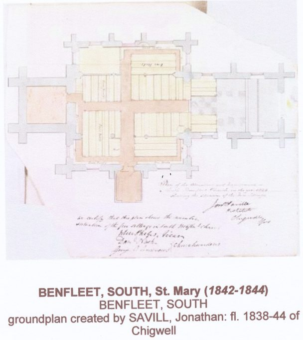 Ground Plan of St Mary's in 1840's | Jonathan Savill