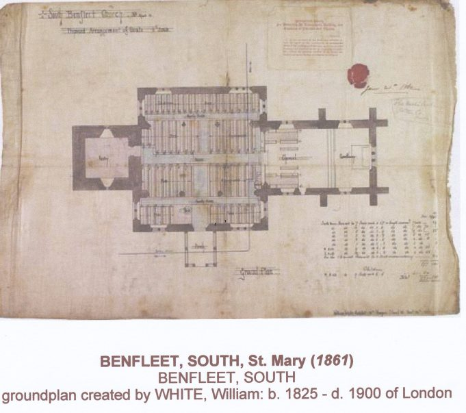 Ground Plan of St Mary's in 1860's | William White