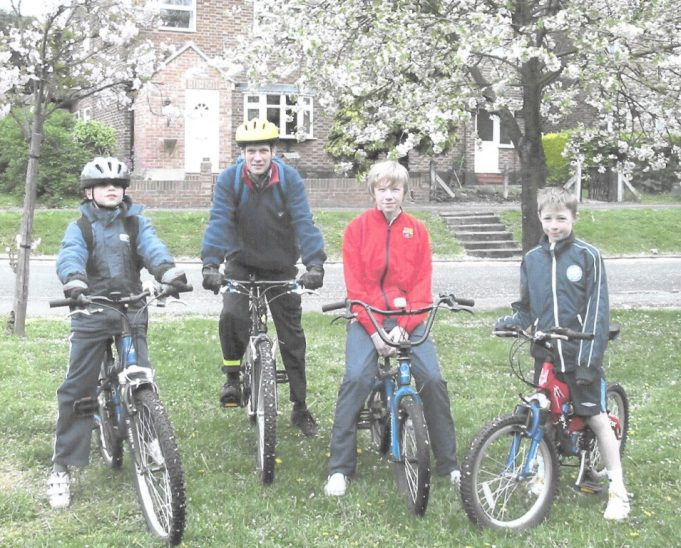 Some of the cyclists | St Mary's Church