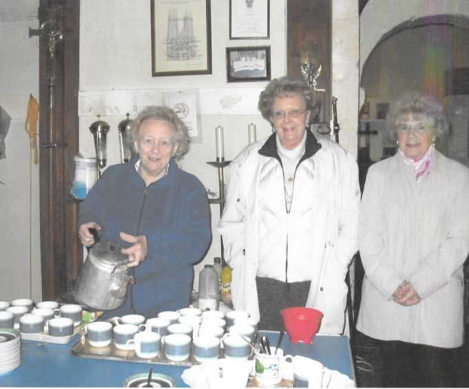 The ladies of the church, from left to right Pat Finley, Coral Young and Josie Cartwright.