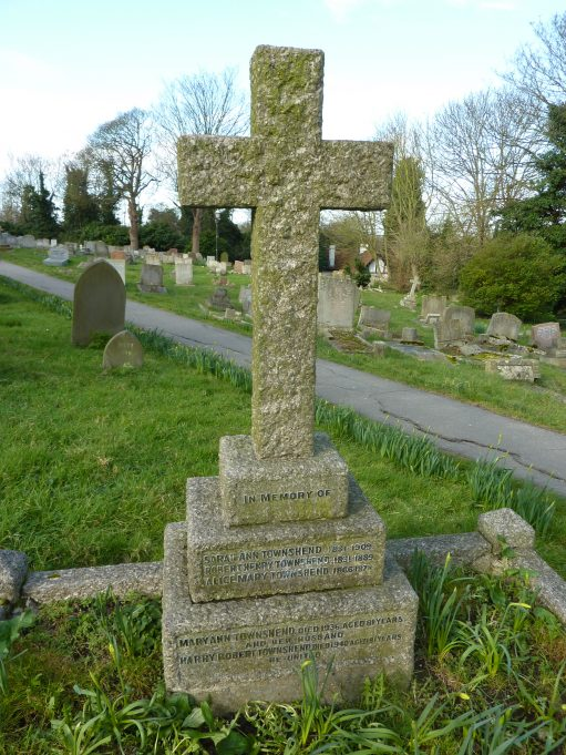 The Townshend family grave stone in St Mary's Churchyard. | Margaret March