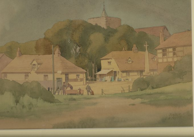 Church Corner, Benfleet in 1921   Charles William Taylor