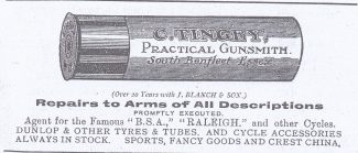 Tingey newspaper advert