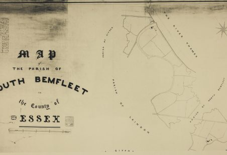 1841 Tithe map for the Parish of South Benfleet