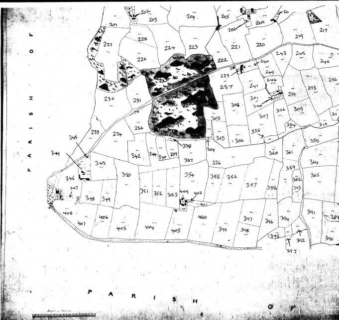 Tithe map, bottom left
