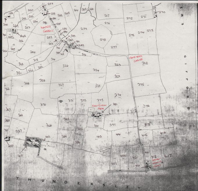 Tithe map, bottom right