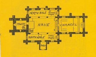 Floor plan drawn by Sir Charles Nicholson