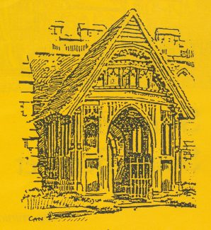 The famous porch | Drawn by Charles Nicholson