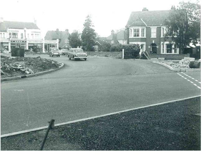 The roundabout is taking shape in the photo.