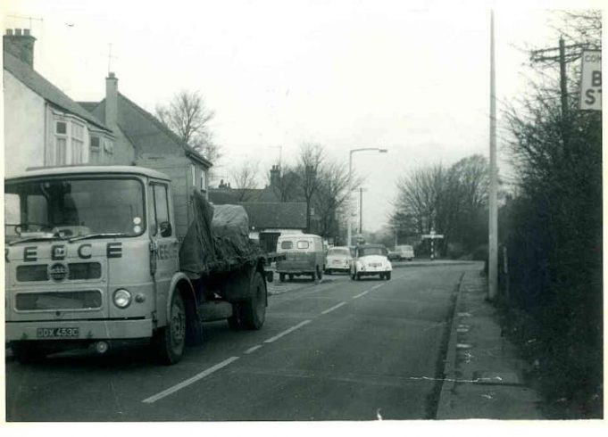 Benfleet Road looking towards the junction, note the crossroads sign in the distance. This photo was taken before any work was begun.