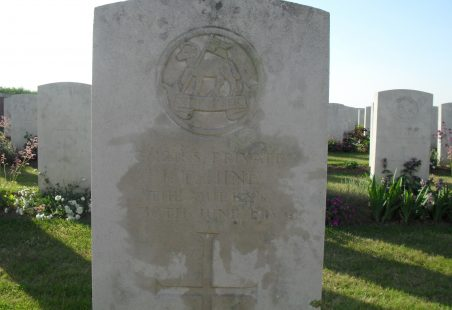 Killed in Action 1918.  Not Commemorated Locally.