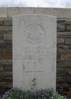 Robert Vivyan Child.  Special Memorial. | Copyright.  Mr Alan Cooper.